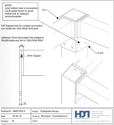 An example of a CAD drawing prepared by HDM