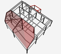 3D CAD view of a structural steel