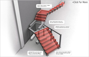 3D Concept Art of the Staircase Design to help highlight finishing issues