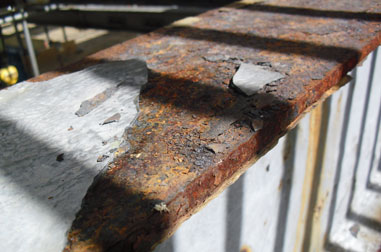 Heavily corroded existing Steel Beams