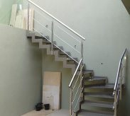 Picture of a custom designed stone clad steel staircase