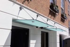 Glass Canopy installtion in Kensignton